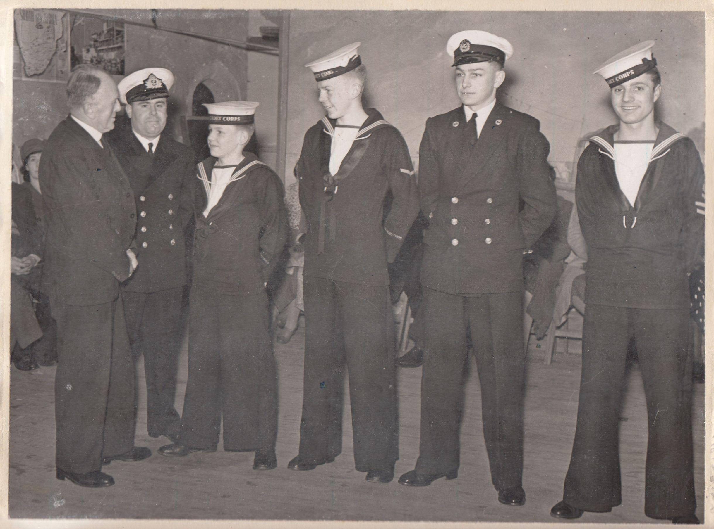 Tiverton Sea Cadets. Image courtesy of Tiverton Museum of Mid Devon Life.