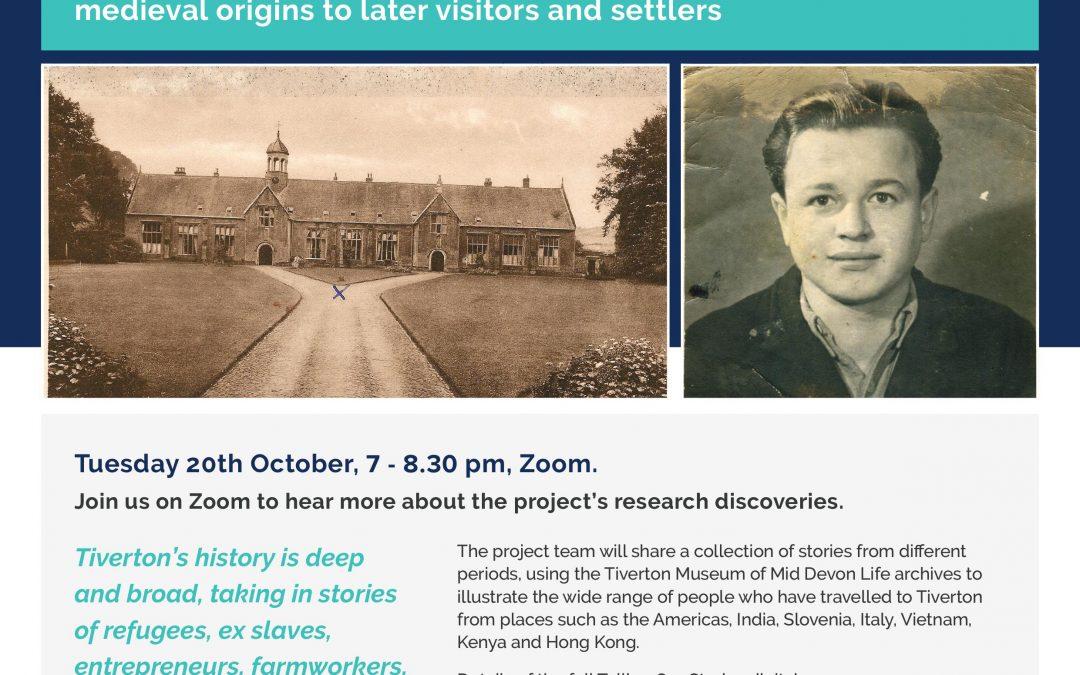 Digital Event 20.10.20 – Listening to History: Tiverton