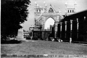 Exeter Cathedral and St. Mary Major circa 1947