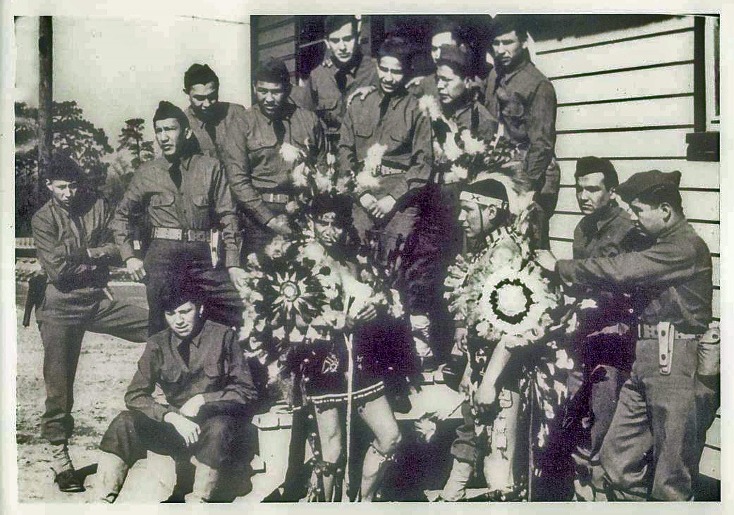COMANCHE Code Talkers at Fort Benning in 1941. Image in the Public Domain.