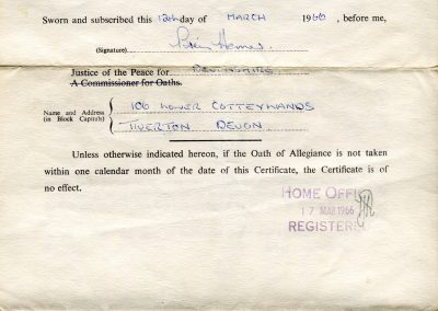 Danilo's Oath of Allegiance, completed in 1960. Image courtesy of the Maglov Family Archive.