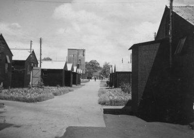 Prisoner of War camp at Bolham Road, Tiverton. Image courtesy of Tiverton Museum of Mid Devon Life.
