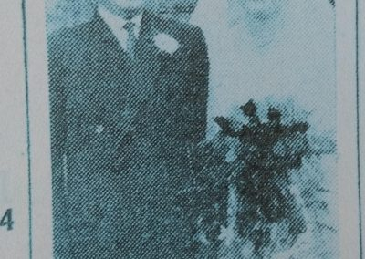 Article announcing the wedding of Franc Rosic