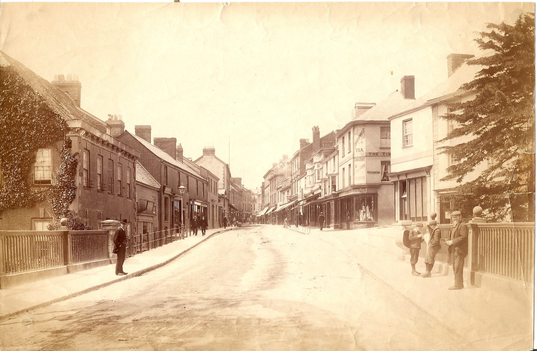 Tiverton. Image courtesy of Tiverton Museum of Mid-Devon Life