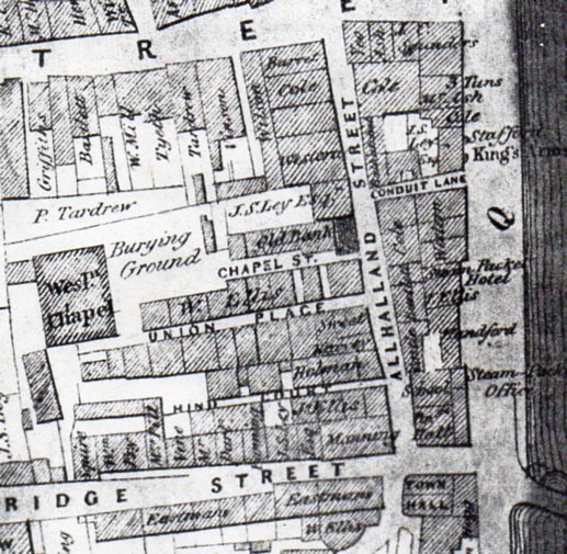 Map showing Chapel Lane (image courtesy of Peter Christie)