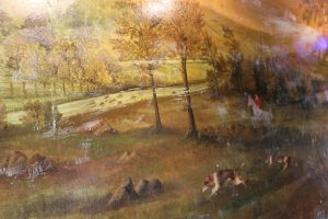 Mural from The Fox and Hounds Inn at Bridestowe