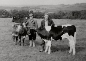 German Prisoners of War at work on local farm, Image courtesy of Museum of Dartmoor Life