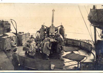 Officers aboard a Polish Navy Destroyer, or Piorun. Image courtesy of Tony Olszowski.