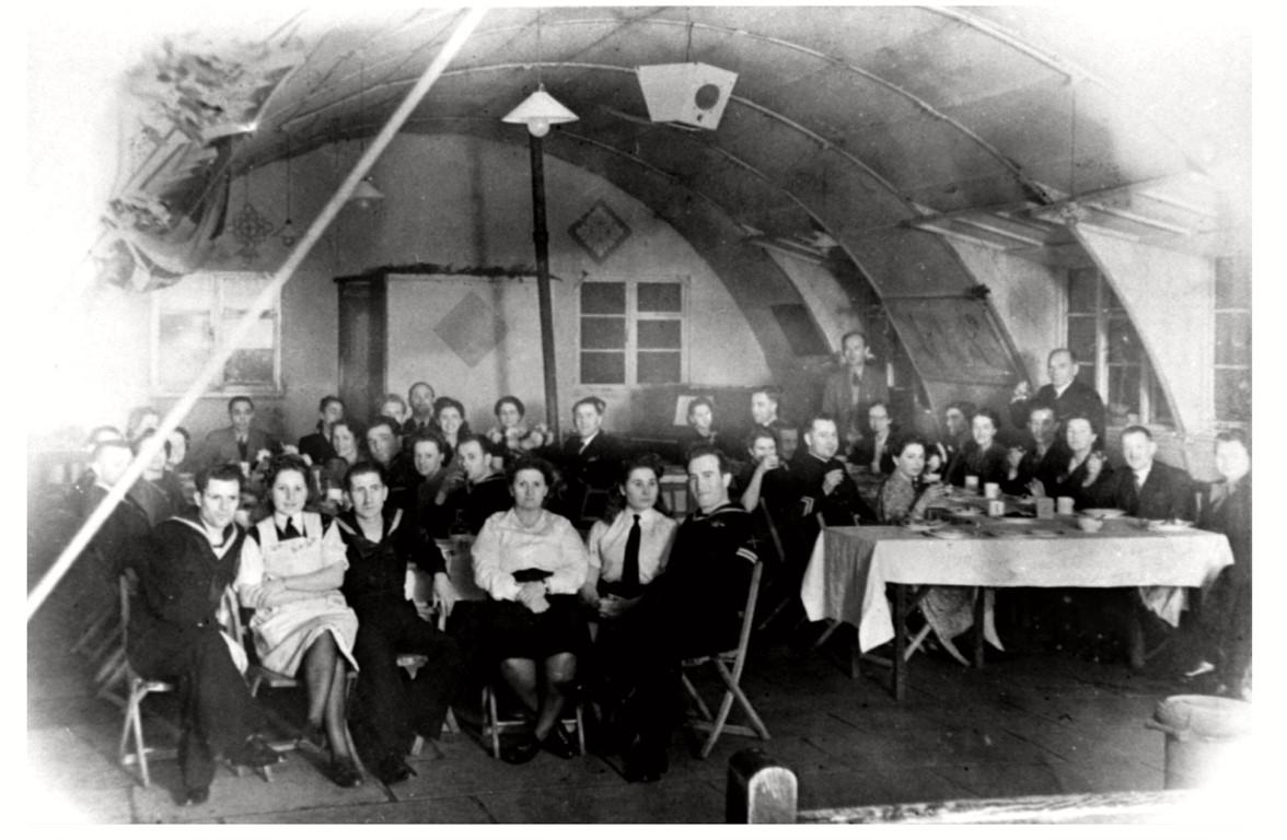 Polish naval canteen, Okehampton, c. 1947. Image Courtesy of the Museum of Dartmoor Life.