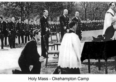 Holy Mass at Okehampton Camp. Image Courtesy of the Museum of Dartmoor Life.