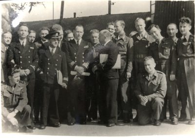 Naval officers and men at the Okehampton camp