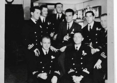 Naval officers in the 'Lost Weekend' bar. Image courtesy of Tony Olszowski.