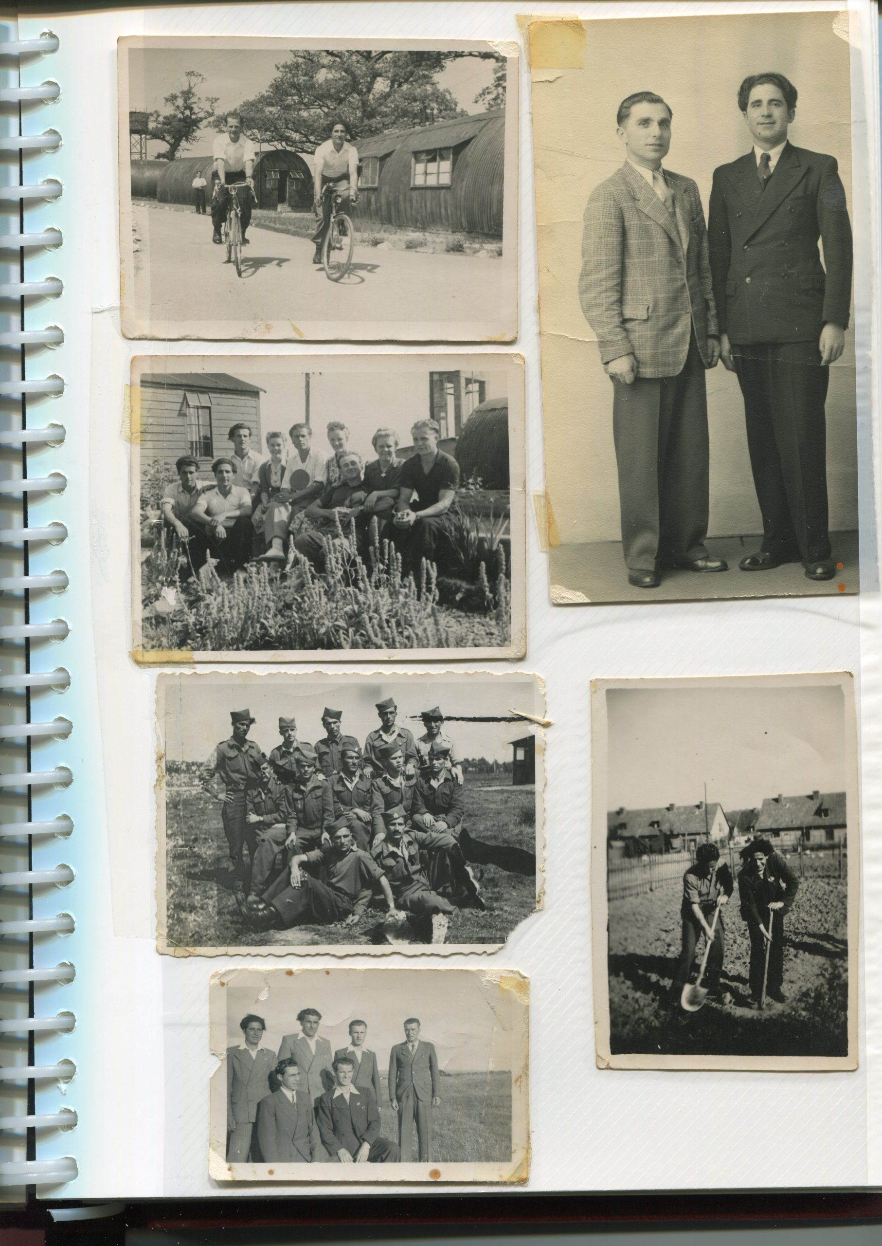 A photo of a page of the Maglov family album
