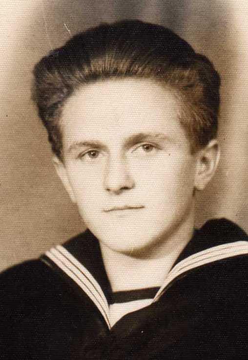 Jan Stepek in uniform