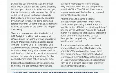 Hosting a Navy in Exile: The Case of the Polish Camp (Banner created for Exhibition – October 2020)