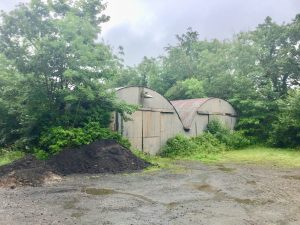 The remaining Nissen huts, as they stand today