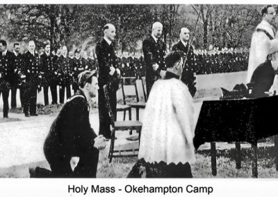 An open-air mass on the Parade Ground