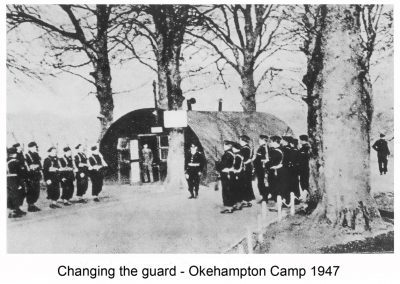 Changing the guard at the camp
