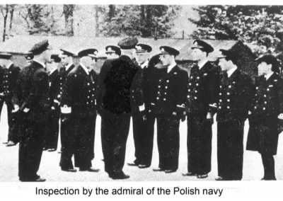 Inspection by the Admiral of the Polish Navy