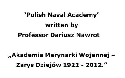 Polish Naval Academy (Translation of extract from the book)